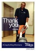Poster - Hospital cleaner