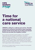 Time for a national care service June 2020