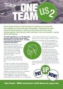 One Team Us 2 leaflet