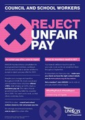NJC Council and School Pay Consultation - poster